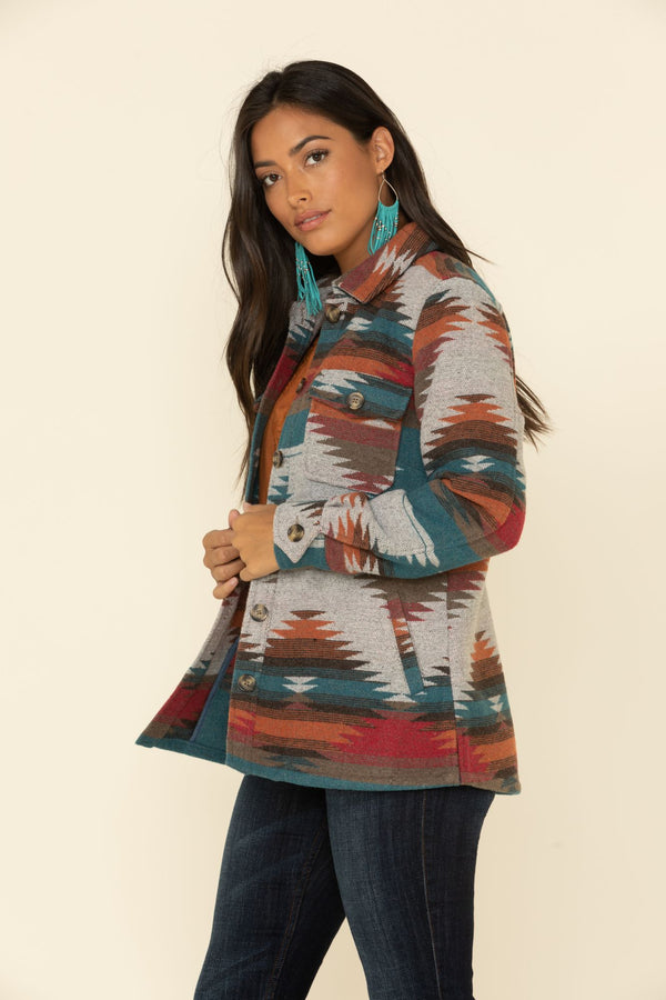 Dawn Shacket Jacket - Teal