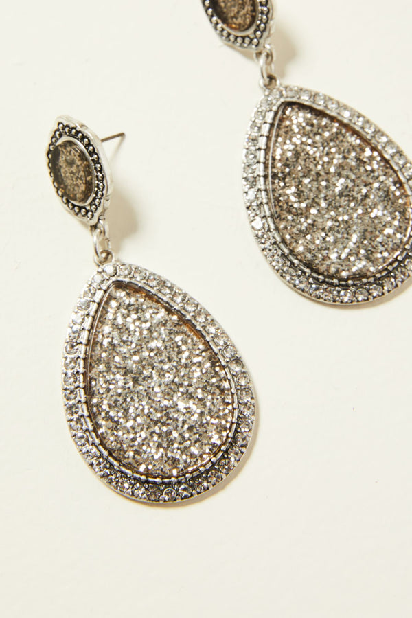 Sparkle All Night Earrings - Silver