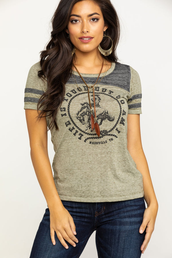 Tough Girl Tee - Olive
