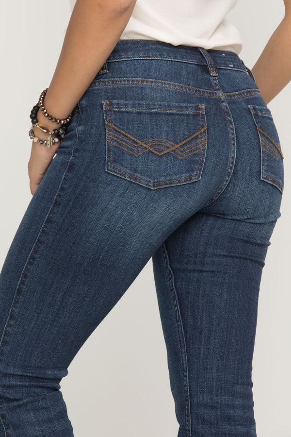 The Rebel Bootcut Jeans - Blue