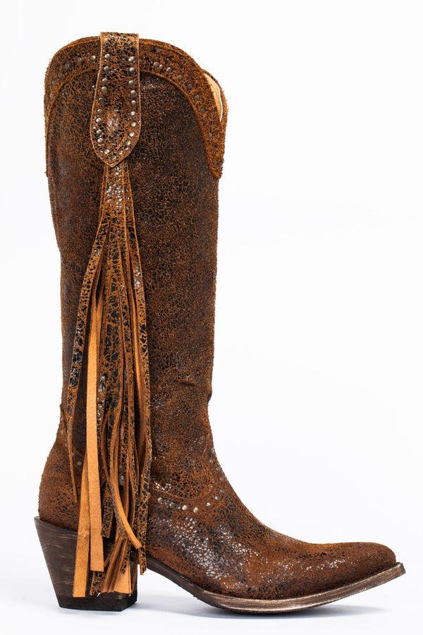 Fray Western Boots - Round Toe - Brown