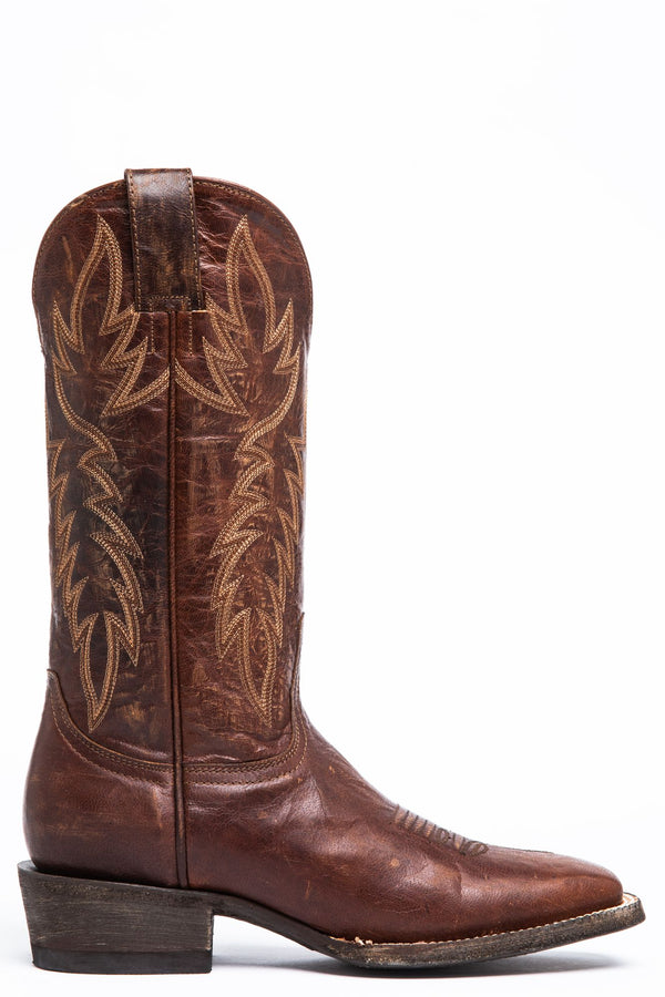 Wildwheel Western Boots - Wide Square Toe - Brown