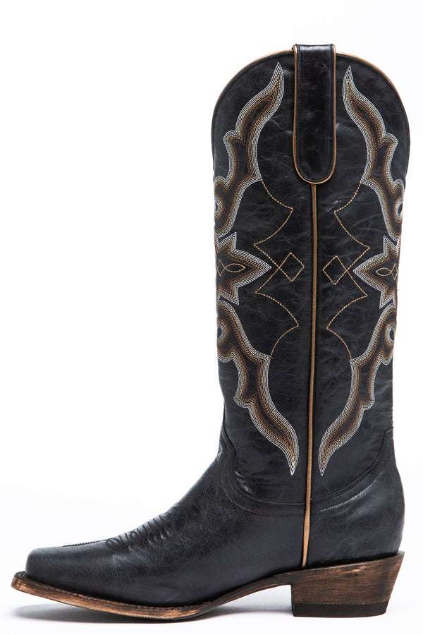 Relic Square Toe Western Boots - Black