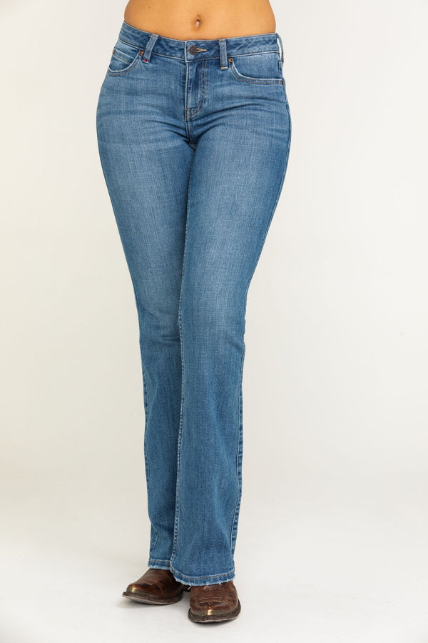 Rebel Wild Heart Bootcut Jeans - Blue