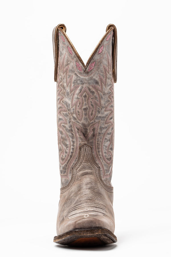 Tie Down Western Performance Boots - Square Toe - Grey