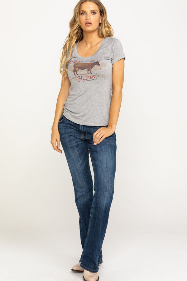 Crazy Heifer Trustie Tee - Heather Grey