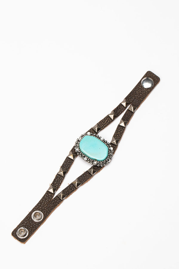Keep An Eye Out Cuff Bracelet - Turquoise