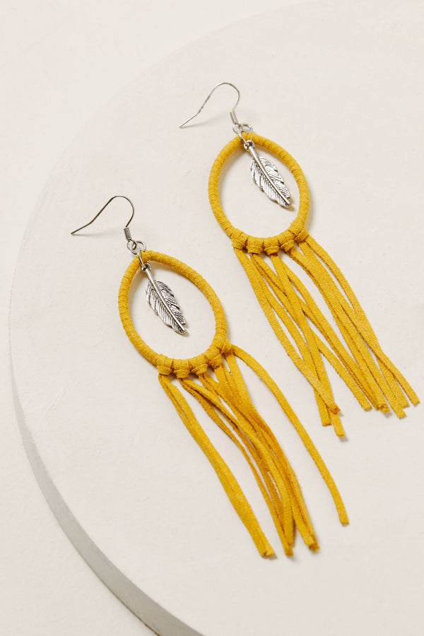 Twist & Turn Tassel Earrings - Silver
