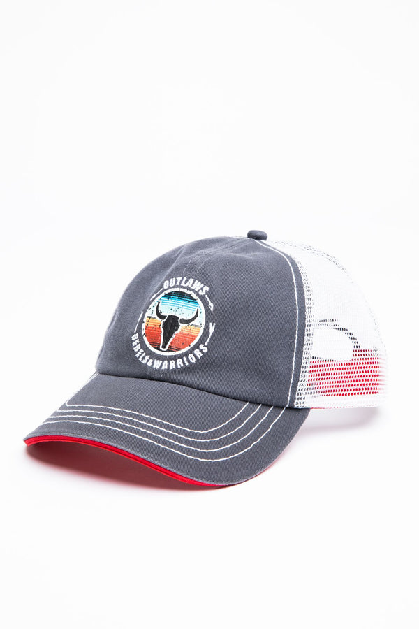 Outlaws And Rebels Ball Cap - Grey