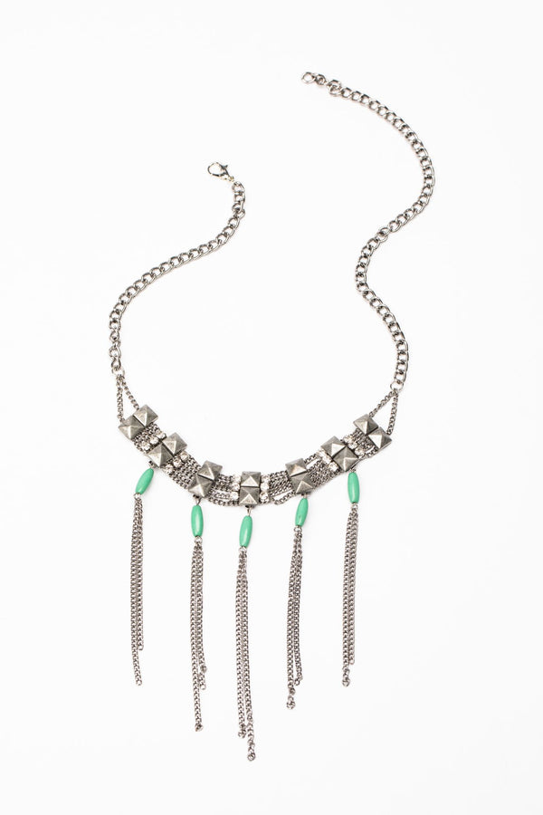 Rightfully Wild Turq Necklace - Silver
