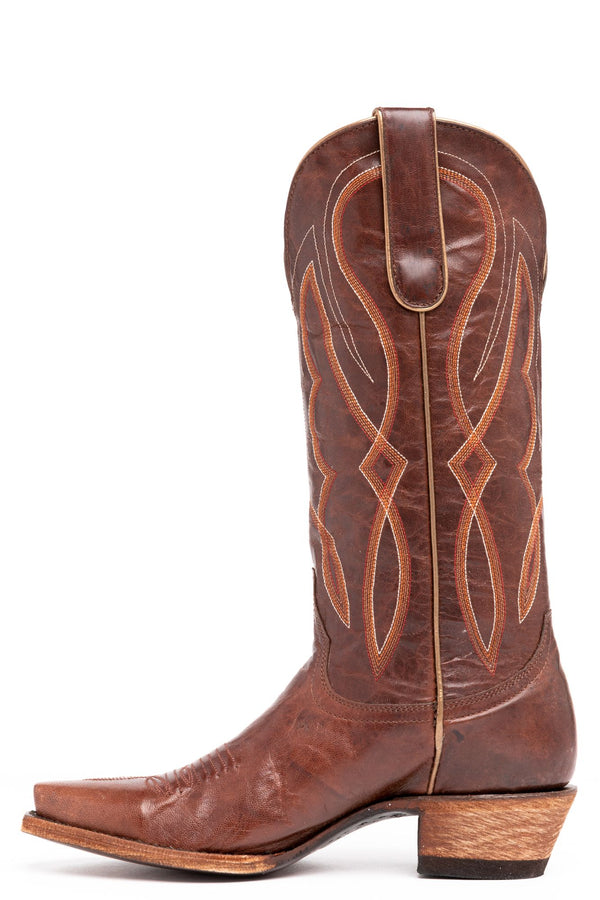 Grit Western Performance Boots - Snip Toe - Cognac