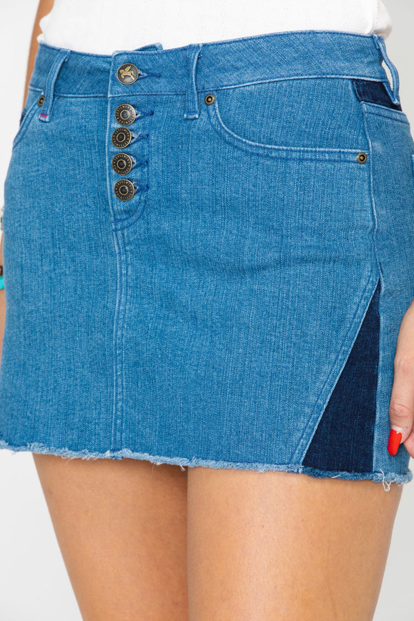 Dakota Denim Skirt - Blue