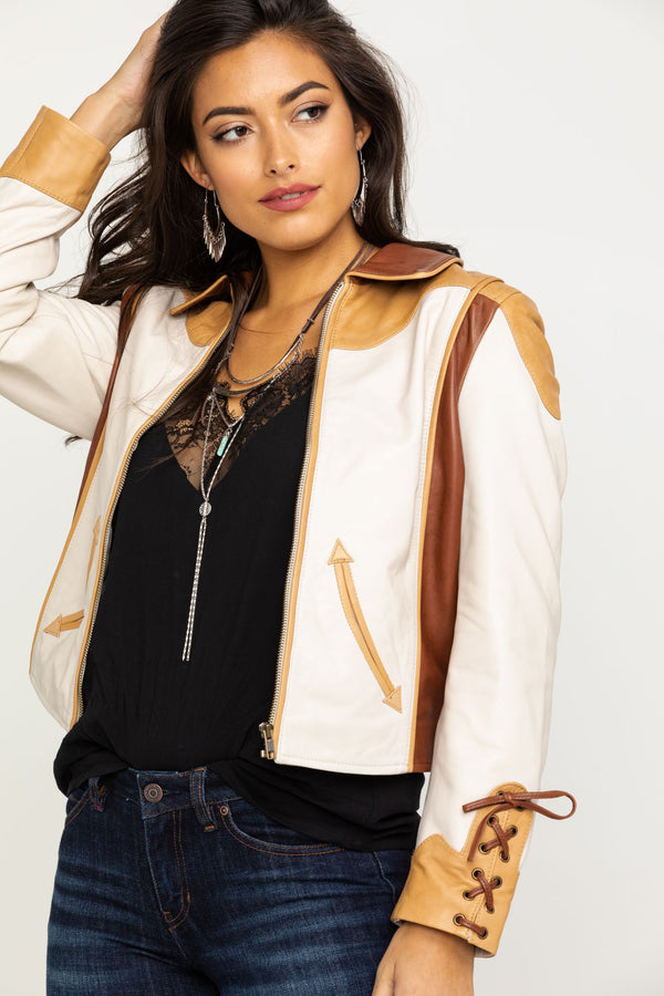 Truly Western Leather Jacket - Tan