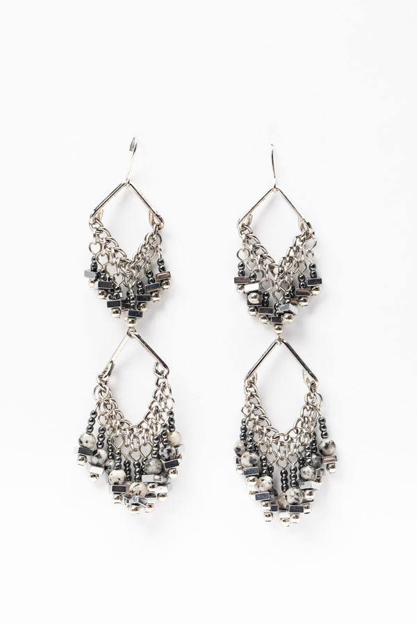 Half Way There Drop Earrings - Silver