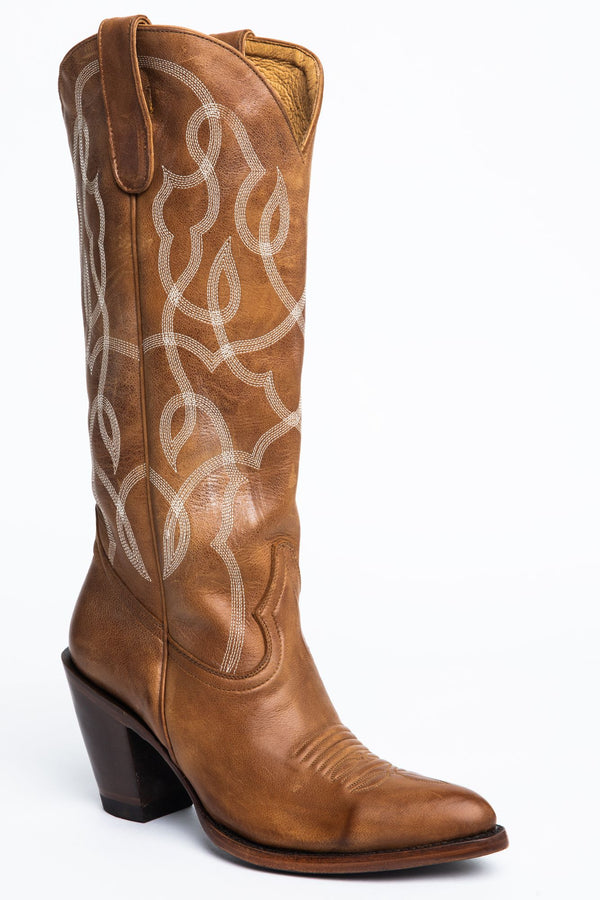 Revenge Western Boots - Round Toe - Tan