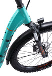 Overhead Front Fork Detail of Jaunt EZ 2 Electric Bike by Sinch eBikes