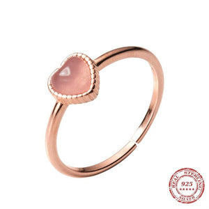 The Opal Heart Ring (resizable)