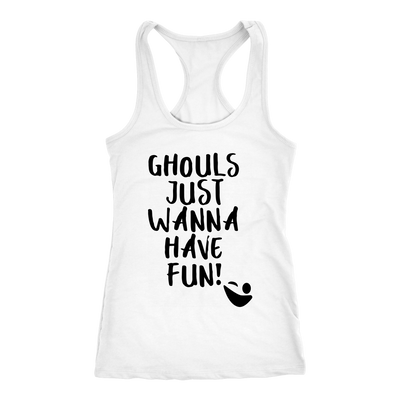 Ghouls Just Wanna Have Fun Halloween Ghost Tank Top
