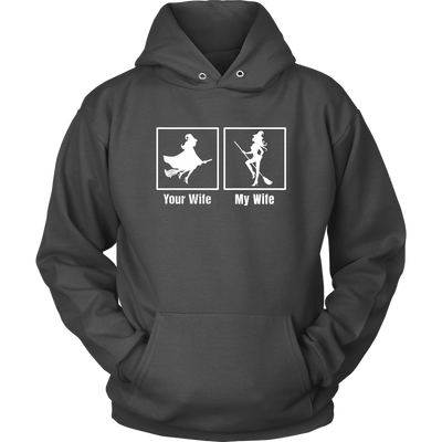 For Wife My Wife Witch Cool Halloween Hoodie