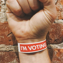 Load image into Gallery viewer, I'M VOTING Wristband chicago I voted