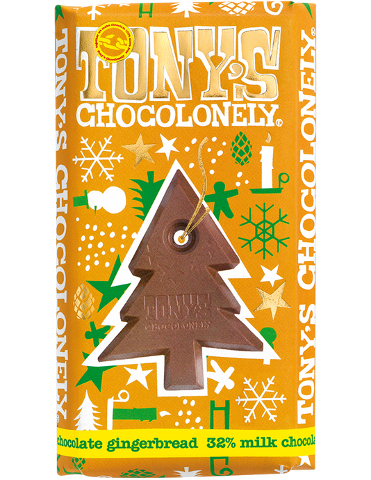 Tony's Chocolonely Gingerbread Milk Chocolate Christmas Bar 180g