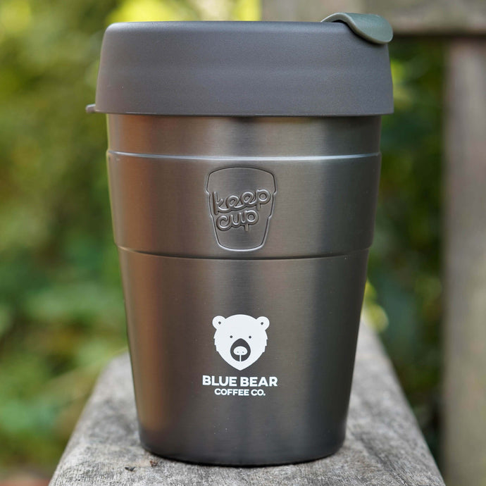 BLUE BEAR THERMAL KEEP CUP - GREY 12oz/340ml