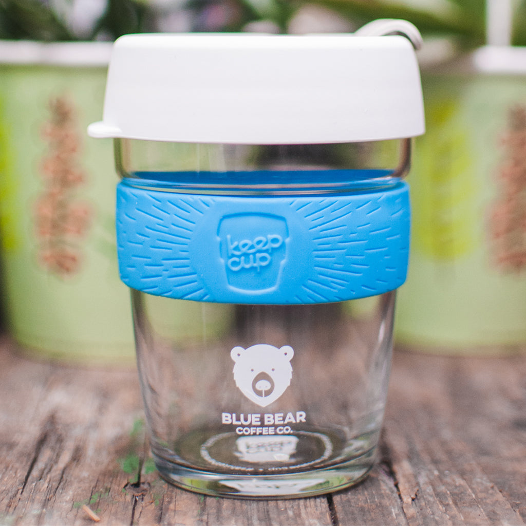 Blue Bear Brew Keep Cup - Silicone Blue 12oz/340ml