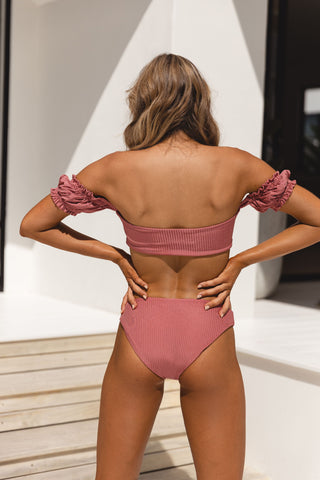 TIFFANY BRA - DUSTY ROSE RIB
