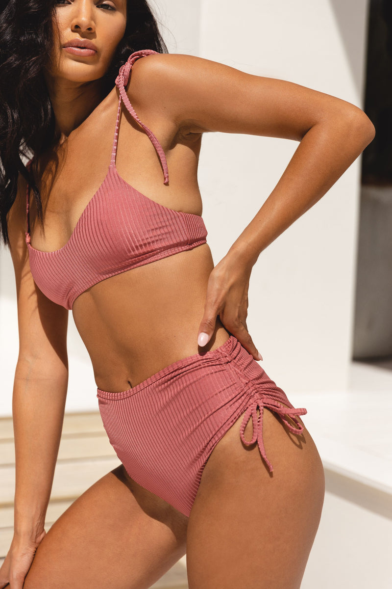 ANJA BRIEF - DUSTY ROSE RIB