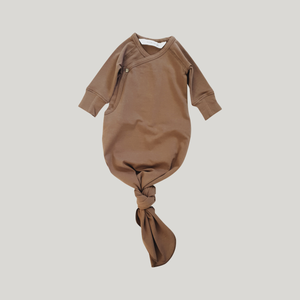 Susukoshi Knotted Gown - Chocolate - Knotty Tot