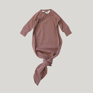 Susukoshi Knotted Gown - Terracotta - Knotty Tot