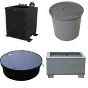 fluid dispenser pedestals and tank manholes