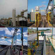 railroad sand systems, pipe bridges, locomotive pressure washer