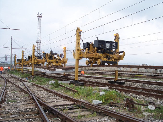 track and switch laying gantry