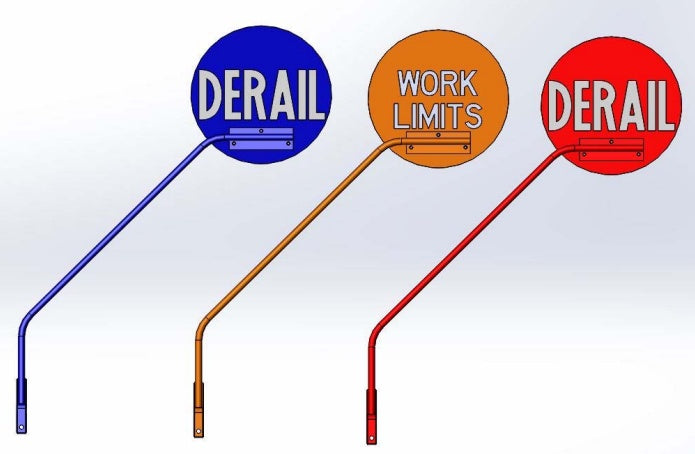 portable derail flags