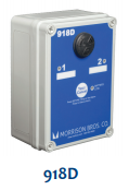 Morrison Bros 918D-1100 AA Dual Channel Tank Alarm Box, Battery Powered