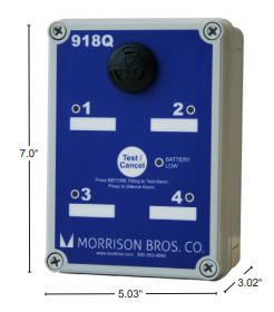 Morrison Bros 918Q Alarm Box, 4 Input Quad Channel