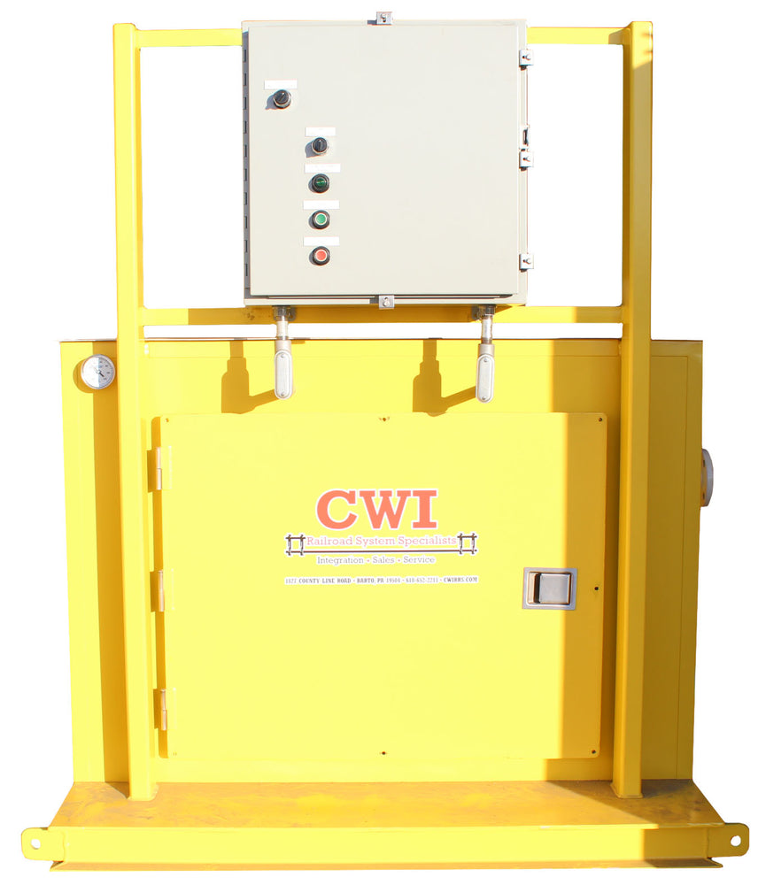 heated pump cabinet