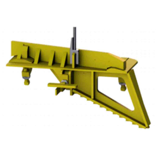 898020-601-02L Portable High Speed Derails, Yellow, Left Hand Throw, Orange Work Limits Flag Included
