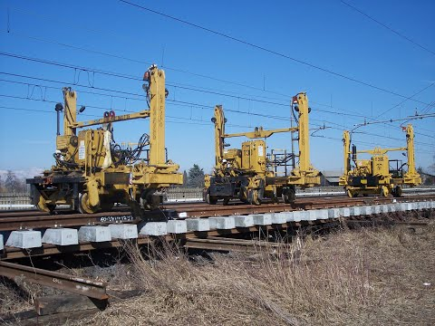 T30 Track and Switch Laying Gantry La Falco Railway Machines