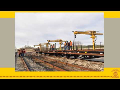 GCR1000 Rail Loader Cranes La Falco Railway Machines