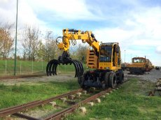 road-rail loaders mow equipment