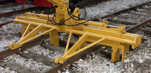 Railroad track hydraulic stripping equipment