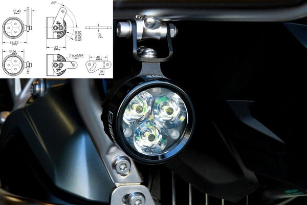 Clearwater R1200GS ADV WC (14-) Darla Fog Light Replacement Ligh