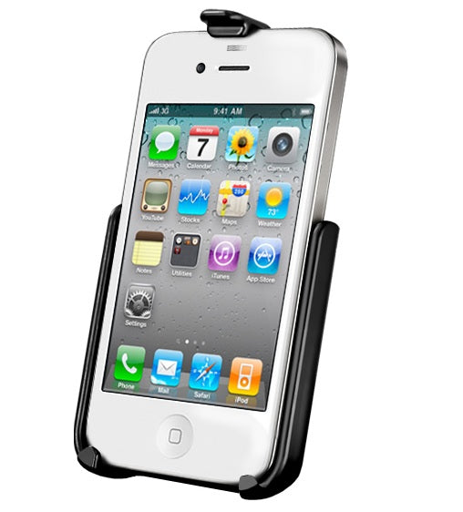 RAM Mounts iPhone 4|4S without case, skin, or sleeve Cradle