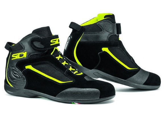 Sidi Gas Black/Flo Yellow Boot