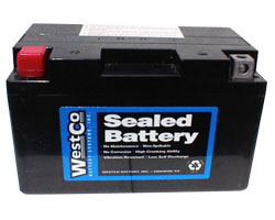 WestCo 12V12A-BS Classic AGM Battery for BMW Motorcycles