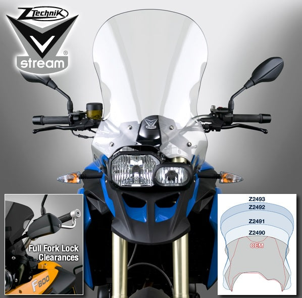 ZTechnik F800GS|F650GS2 VStream Tall Touring Windshield