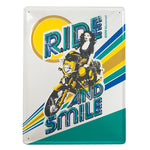 BMW Motorcycles Vintage Metal Sign - R90S Ride And Smile