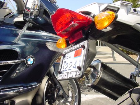 BMW R1200GS|G450X License Plate Bracket/Tail Tidy